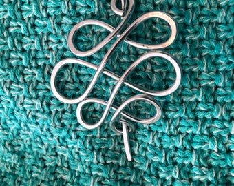 Shawl pin hair pin wire wrapped