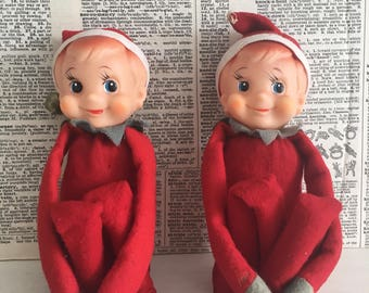 Pair of Vintage Christmas kneehugger elves elf
