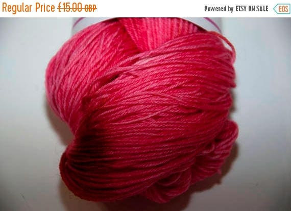 Christmas In July Hand-Dyed Yarn in Cherry Delight Colourway 4ply Superwash Polwarth Snuggly Base