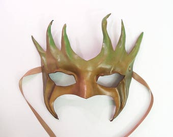 Tree Leather Mask Smaller Size greenman greenwoman forest Ent Groot Treebeard