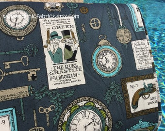 Ghastlie Duel Potion Blue Color ~ Just Released The Ghastlies from Alexander Henry Cotton ~ Cotton Quilting Fabric