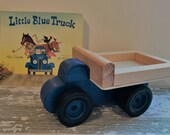 Toy Blue Farm Work Truck and Little Blue Truck Book - Toy Wood Blue Farm Work Truck with Dual Wheels on Rear and Little Blue Truck Book