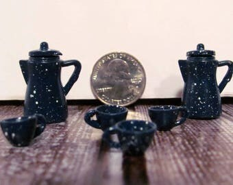 Miniature Coffee Pots and Cups