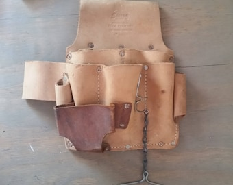 Vintage Electrician Split Cowhide Sierra Leather Professional Tool Pouch No. KW500