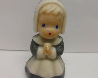 Vintage Mid Century Gurley Small Pilgrim Girl Candles from the 1950s