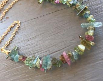 Tourmaline Crystal Necklace Necklace