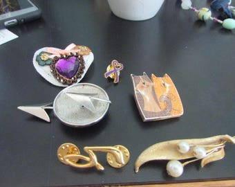 Bunch of brooches
