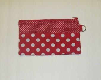 Zipper Pencil Case Polka Dot  Cosmetic Bag