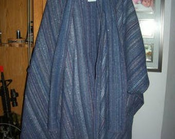 Spring Handwoven Women's Cape with removable scarf-beautiful blue!