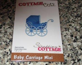 CottageCutz Baby Carriage Mini Die