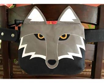 Wolf Fanny Pack- Animal Fanny Pack- Bum Bag- Hip Bag