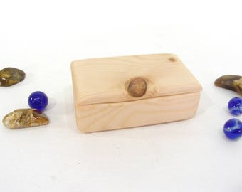 Cedar Wood Box, guitar pick holder, engagement ring box, ring bearer box, proposal box, earring box, eco gift box, Christmas gifts
