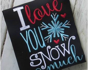 Winter Pajamas - I love you SNOW much pajamas - Snow theme pajamas - Girls Pajamas - Boys Pajamas - Sibling Pajamas -Gifts for Boys or Girls