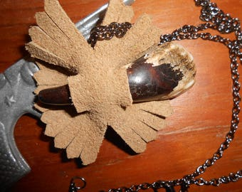 Buffalo Tooth Pendant Western Necklace- handmade