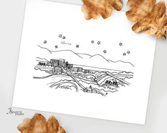 Boise, Idaho - United States - Instant Download Printable Art - City Skyline Series
