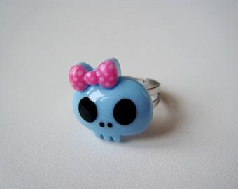Ring ♥ skull blue ♥