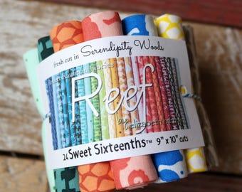 REEF Sweet Sixteenths™ Bundle Full Collection 24 pc Elizabeth Hartman Robert Kaufman Fat 16th