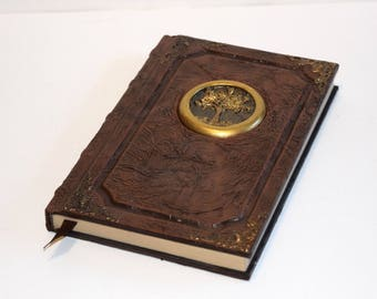 Tome book journal sketchbook ancient magic Red druid wiccan larp cosplay