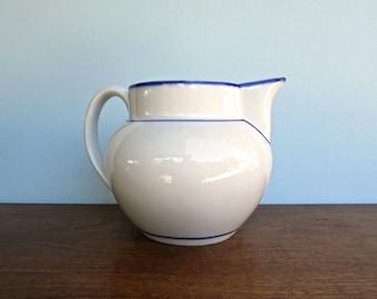 Viana do Castelo, Portugal Pottery, HUGE Blue and White Porcelain Jug