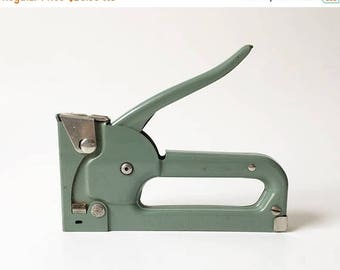 SALE Stapler Heavy Duty Stapler Industrial decor Green stapler Vintage Stapler