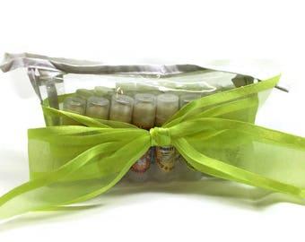 Lip Balm Lover Gift Set - 20 handmade lip balm sticks in zippered vinyl travel bag - gift basket, coworker, teacher, gift exchange, teenager
