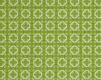 FABRIC Fat Quarter Circles geometric Bee Basics Green   Fat Quarter    We combine shipping
