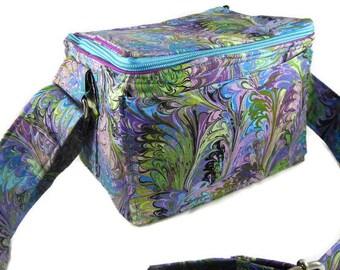 """Coupon Pocketbook Purple Marbled Mega 6"""" single wide Organizer Bag"""