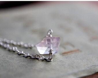Summer Sale Gemstone Bracelet, Rose Quartz Bracelet, Rose Quartz, Sterling Silver, Wire Wrapped, Modern Bracelet, Feminine Bracelet, Delicat