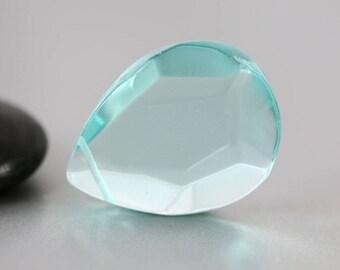 Blue Quartz Briolette - Synthetic - Blue Quartz Bead - 31mm