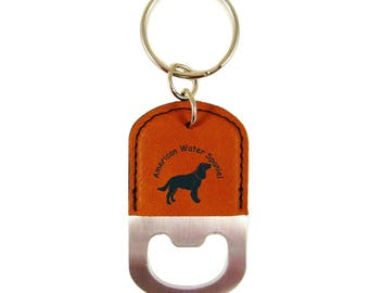 American Water Spaniel Standing Bottle Opener Keychain K1270 - Free Shipping