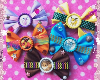 Pokemon Eevee Evolutions Gamer Hair Bows