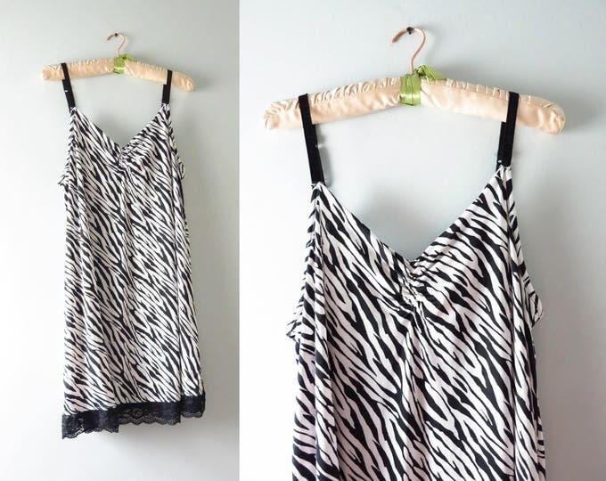 Modern | Cacique Zebra Print Slip Dress Size 18/20 | Plus Size Lingerie
