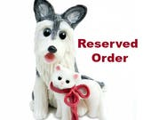 Reserved for jmasterswolfe Havanese White Christmas Ornament Figurine Lights Porcelain
