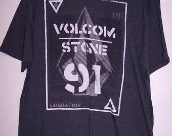 Volcom Stone Shirt Size XL Charcoal Gray Men's Vintage 1991 Logo T-shirt