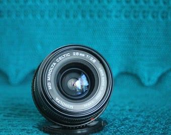 Minolta 28 MM F1: 2.8 Lens for Minolta MC mount