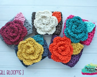 Crochet Rose Cup cozy { Fall Blooms } floral, autumn, flower coffee sleeve, mug sweater, starbucks coffee gift
