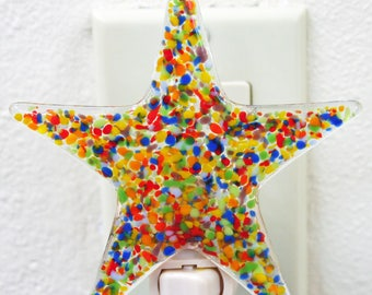 Glassworks Northwest - Star Night Light Rainbow - Fused Glass Art
