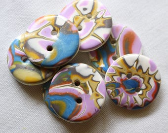 Mokume Gane Buttons 1 inch or 1 1/2 inch Button No. 376
