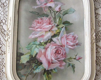 Roses, Print, Catherine Klein, Antique Frame, Half Yard Long, Art Print, Shabby Chic, C Klein