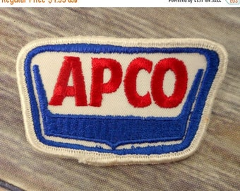 APCO Patch Embroidered Uniform Gulf Oil Advanced Petroluem Company Red White Blue