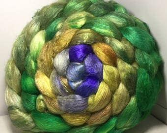 Baby Camel/Silk 50/50 Roving Combed Top 5oz - Dryad 3
