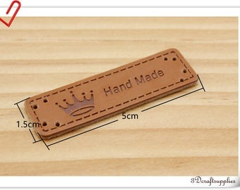 5cm ( 2 inch )   Leather Tags label for handmade items purse clothing labels Knitting Labels leather labels 10pcs T39A