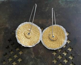 Gold Disk Earrings