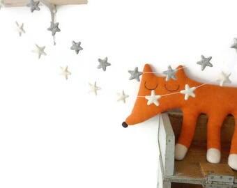 Star garland,Christmas garland,Christmas decorations,Felt star garland,felt garland,merry christmas,christmas tree garland.christmas decor.