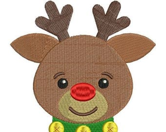 SALE 65% OFF Rudolph Red Nosed Reindeer Christmas Machine Embroidery Designs 4x4 & 5x7 Instant Download Sale