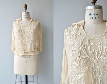 Better Nature blouse | vintage 1920s blouse | soutache silk 20s blouse
