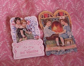 Vintage Valentine Card one Pop Up Made in Germany Children used Plus one