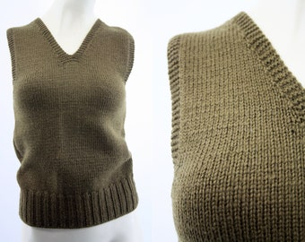 Vintage 1940's WWII American Red Cross Fort Madison Iowa Chapter Wool Hand Knit Sweater Vest
