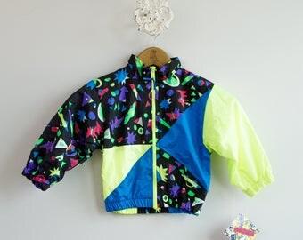 Kid's 1980s New Old Stock Hush Puppies Windbreaker Jacket • Size 3T