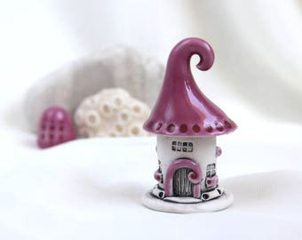 Romantic Pink House of tiny fairies -- unique Hand Made Ceramic Eco-Friendly Home Decor by studio Vishnya
